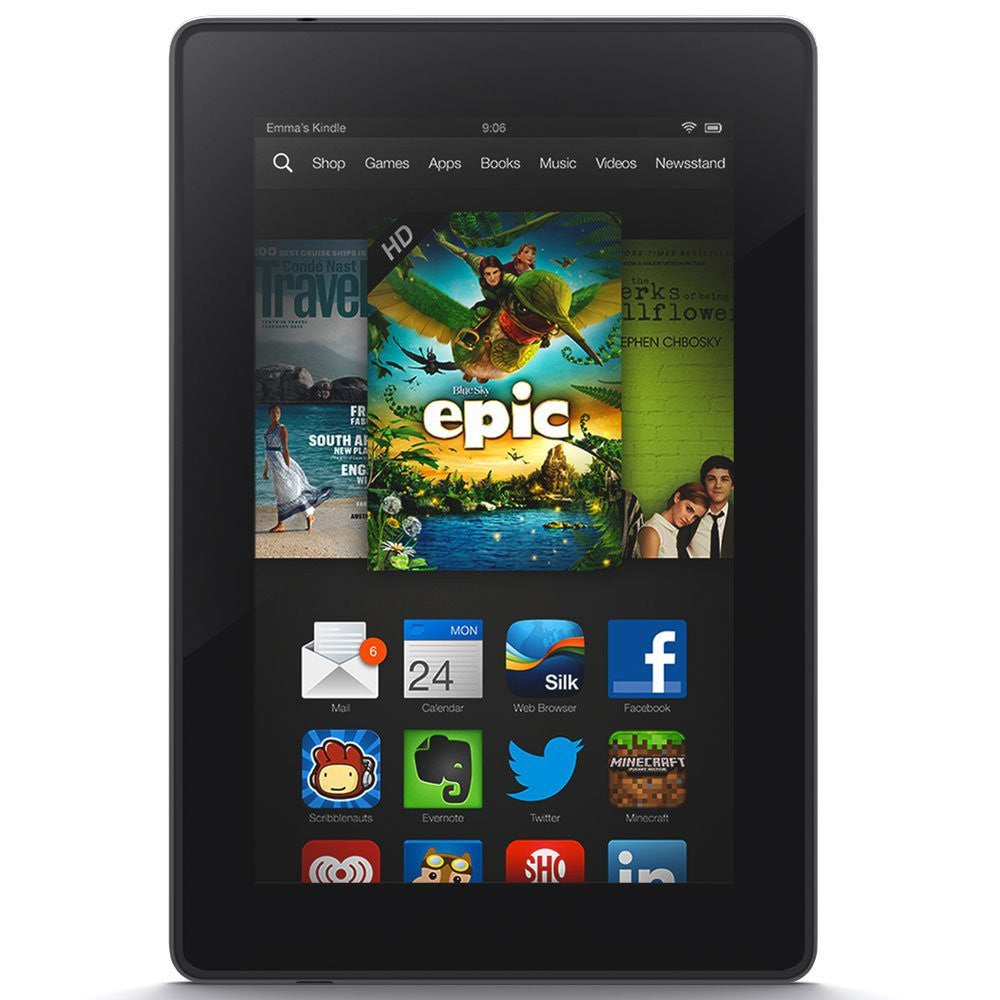 "Amazon Kindle Fire HD 7 7"" HD Display Wi-Fi Black 16GB (Used) Tablet"