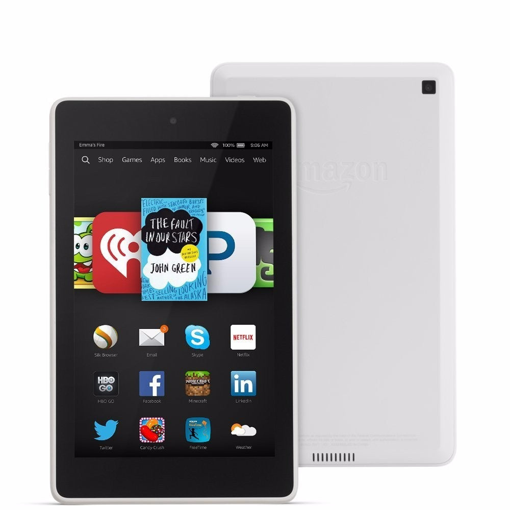 "Amazon Kindle Fire HD 7 7"" HD Display Wi-Fi White 16GB (Used) Tablet"