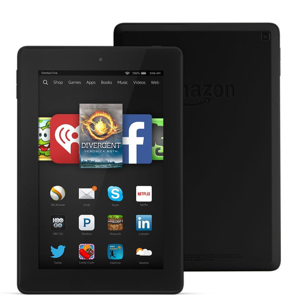 "Amazon Kindle Fire HD 7 7"" HD Display Wi-Fi Black 8GB (Used) Tablet"