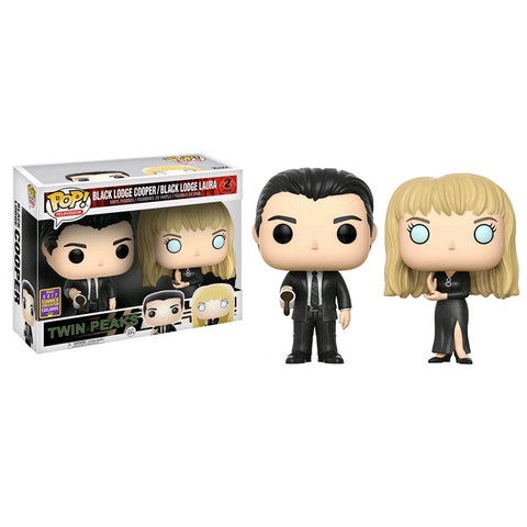 Twin Peaks - Black Lodge Cooper & Laura | 2-Pack SDCC 2017 US Exclusive | FUNKO POP! Vinyl