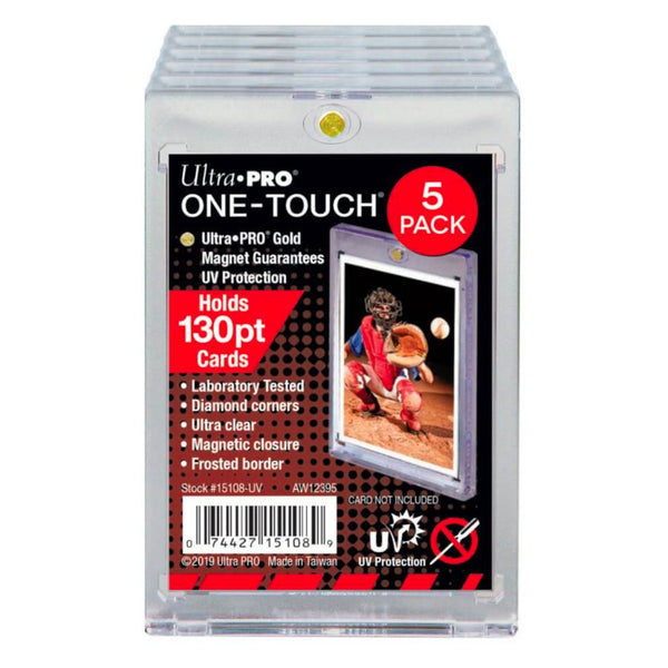 ULTRA PRO ONE TOUCH - 130PT w/Magnetic Closure 5 PACK