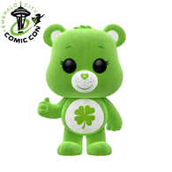 ECCC 2018 Animation: Care Bears – Flocked Good Luck Bear | US Exclusive | FUNKO POP! Vinyl