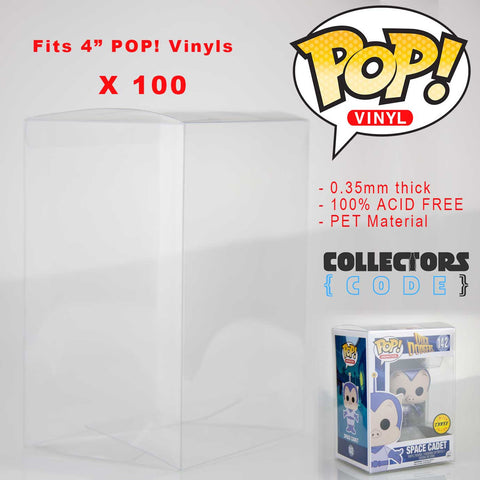 "100 x Qty | Pop! Protector - Clear 3.75"" Display Case High Grade Thick Acid Free"