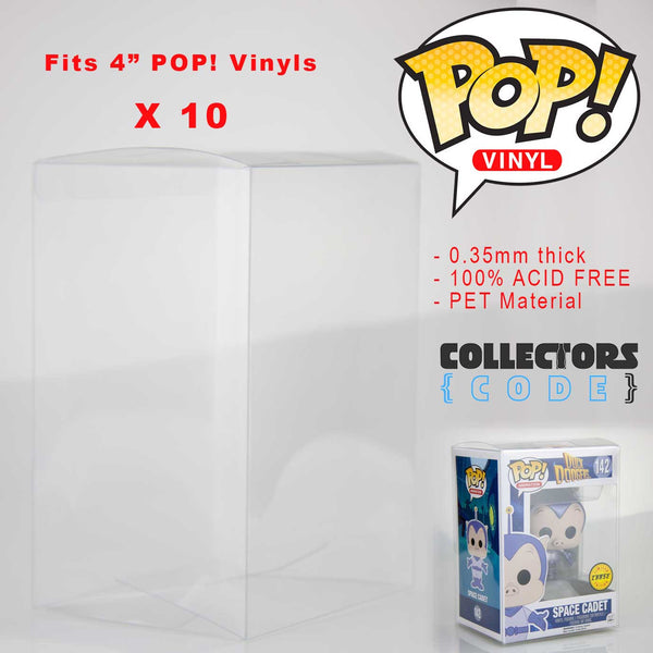 "10 x Qty | Pop! Protector - Clear 3.75"" Display Case High Grade Thick Acid Free"