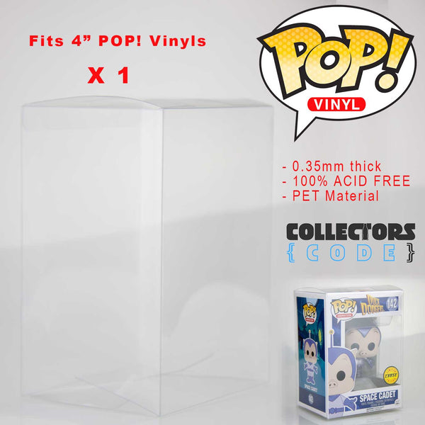 "1 x Qty | Pop! Protector - Clear 3.75"" Display Case High Grade Thick Acid Free"