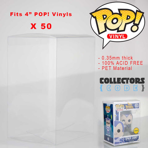 "50 x Qty | Pop! Protector - Clear 3.75"" Display Case High Grade Thick Acid Free"