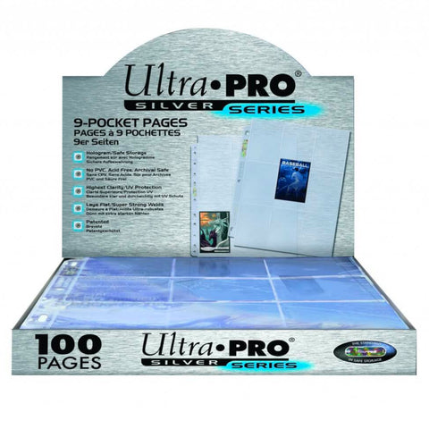 ULTRA PRO 100ct | 9-Pocket Page Silver Series |