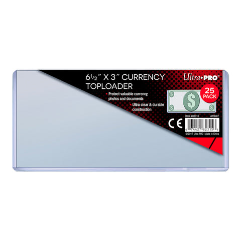 Ultra Pro Currency Toploader  165.1mm x 76.2mm (Small) 25 Pack