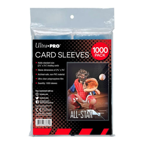 "Ultra Pro Card Sleeves Soft 2.5"" x 3.5"" Collectors Sleeves 
