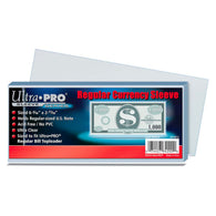 ULTRA PRO Regular Currency Sleeve 100 Per Pack