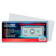 ULTRA PRO Large Currency Sleeve 100 per pack