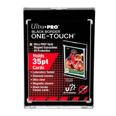 Ultra Pro One Touch - 35pt Black Border w/Magnetic Closure