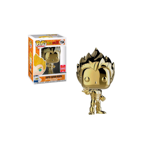 Dragon Ball Z - Vegeta Super Saiyan Gold Chrome SDCC 2018 US Exclusive | FUNKO POP! VINYL