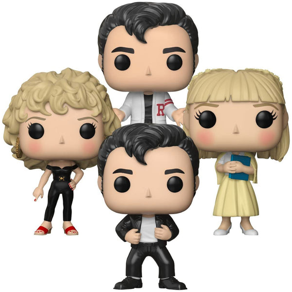 Grease Set of 4 Sandy Olsson Danny Zuko 2 inc Carnival | FUNKO POP! Vinyl