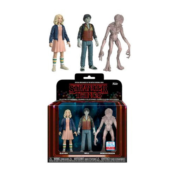 Stranger Things 3-Pack Action Figures NYCC 2017 Exclusive | FUNKO POP! Vinyl