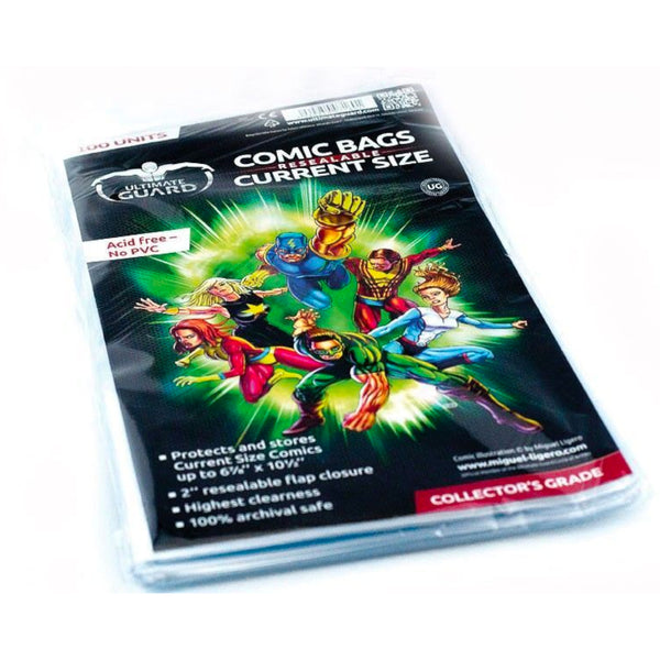 Ultimate Guard - Comic Bags Resealable Current Size | 100ct