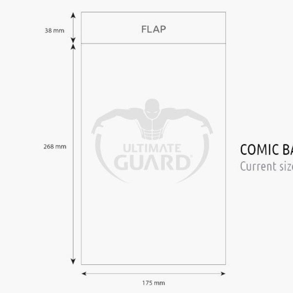 Ultimate Guard - Comic Bags Current Size | 100ct