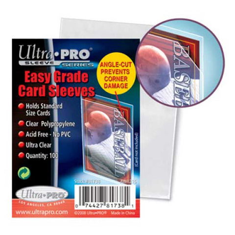 "Ultra Pro Easy Grade Card Sleeves Soft 2.5"" x 3.5"" 