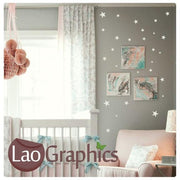28 Stars Pack Bargain Childs Wall Stickers Home Decor Art Decals-LaoGraphics