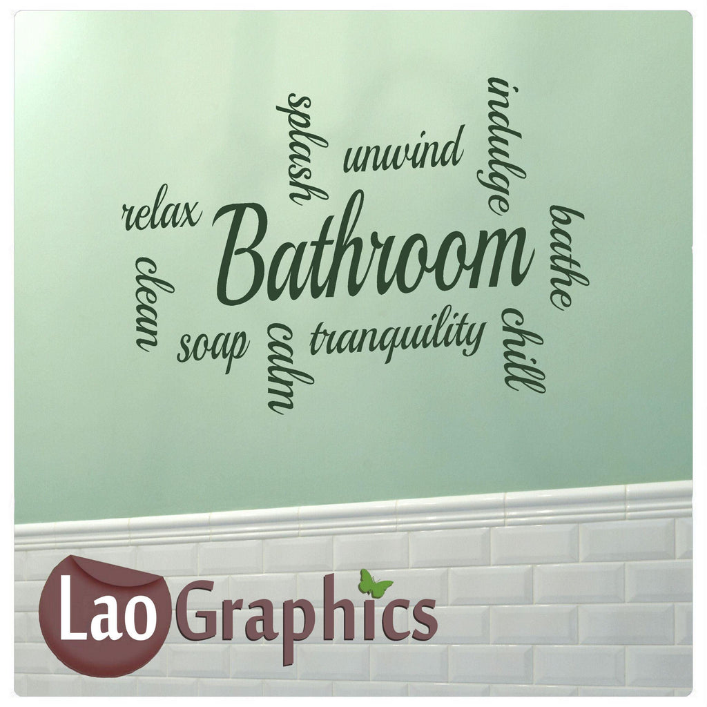 Bathroom Quote Wall Stickers Home Decor Large Vinyl Words Art Decals