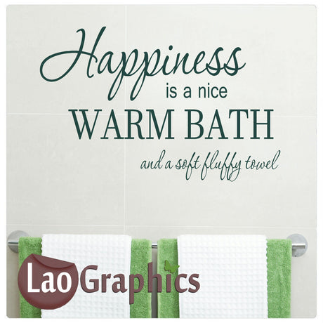 Happiness is a bath Home Decor Art Decals