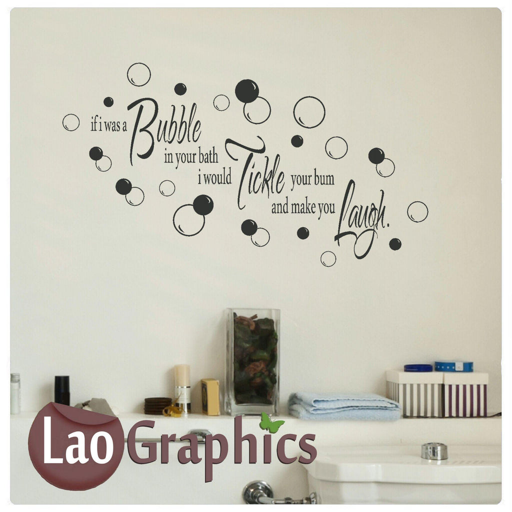 if i was a bubble in your bath Home Decor Art Decals
