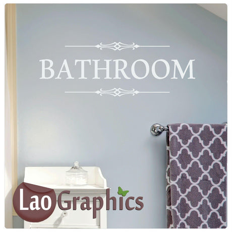 """Bathroom"" Home Decor Art Decals"