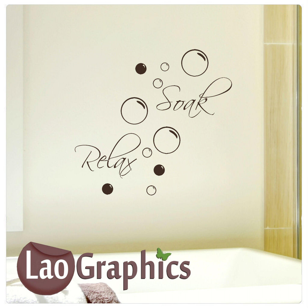 Soak Relax Bathroom Wall Sticker Home Decor Art Decals
