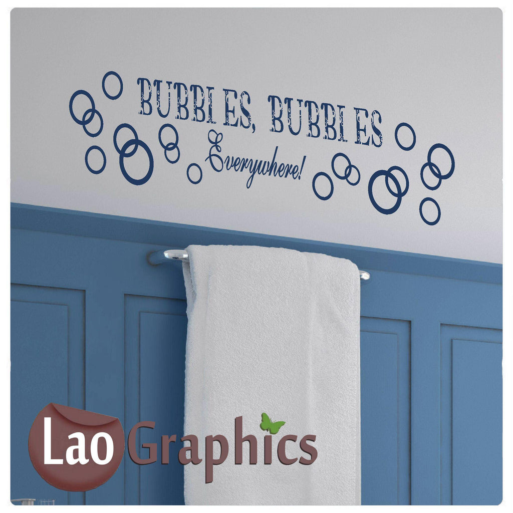 Bubbles Everywhere Bathroom Home Decor Art Decals