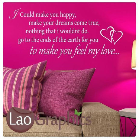 Adele - Feel My Love Song Lyrics Romantic Quote Wall Stickers Home Art-LaoGraphics