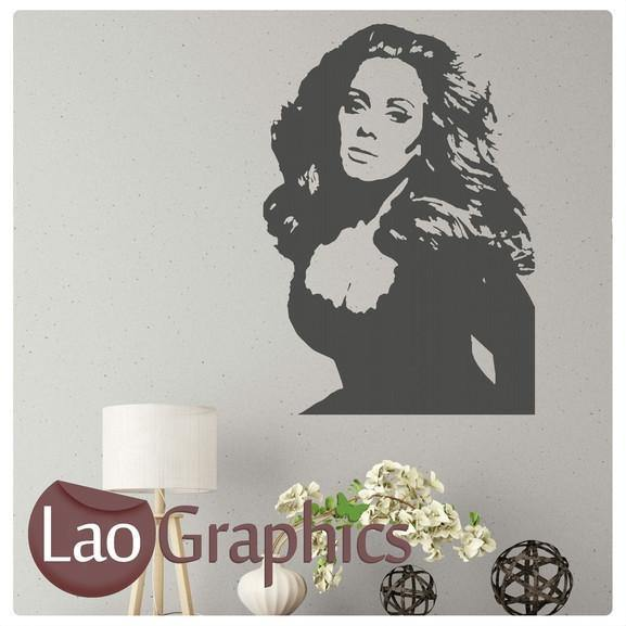 Adele Female Celebrity Wall Stickers Home Decor Art Decals Transfers-LaoGraphics