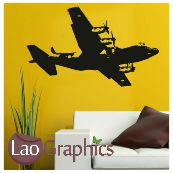 Aeroplane Aviation & Flight Wall Stickers Home Decor Army Art Decals ...