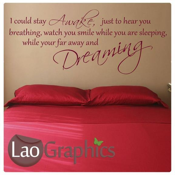 Aerosmith Breathing Quote Vinyl Wall Art Sticker Decal: Dont Wanna Miss A Thing Wall Sticker Home
