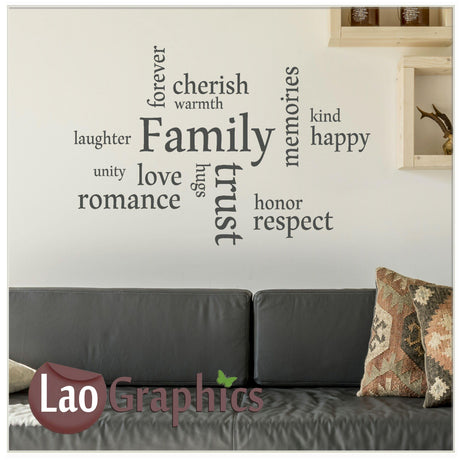 Family Home Decor Art Decals