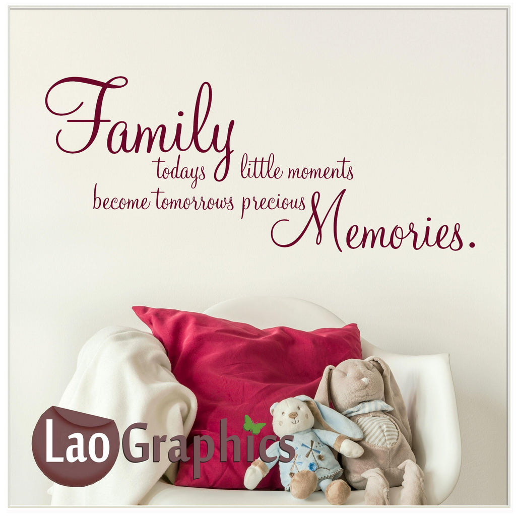 Family little moments Home Decor Art Decals