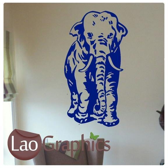 African Elephant African Wall Sticker Home Decor Africa Art Decals UK-LaoGraphics