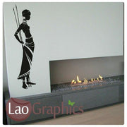 African Tribal/Tribe Lady Wall Sticker Home Decor Africa Art Decals-LaoGraphics