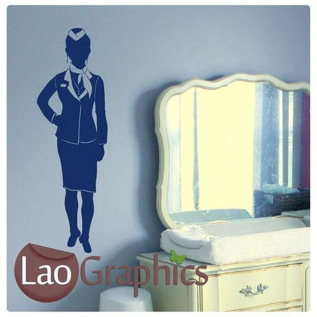 Air Hostess Vinyl Transfer Wall Stickers Home Decor Art Decal Transfer-LaoGraphics