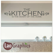 The kitchen is the heart Home Decor Art Decals