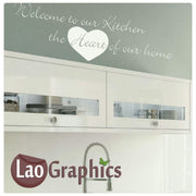 Welcome to our kitchen Home Decor Art Decals