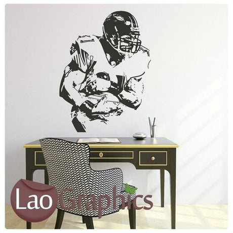 American Footballer Boys Sports Wall Stickers Home Decor Art Decals-LaoGraphics