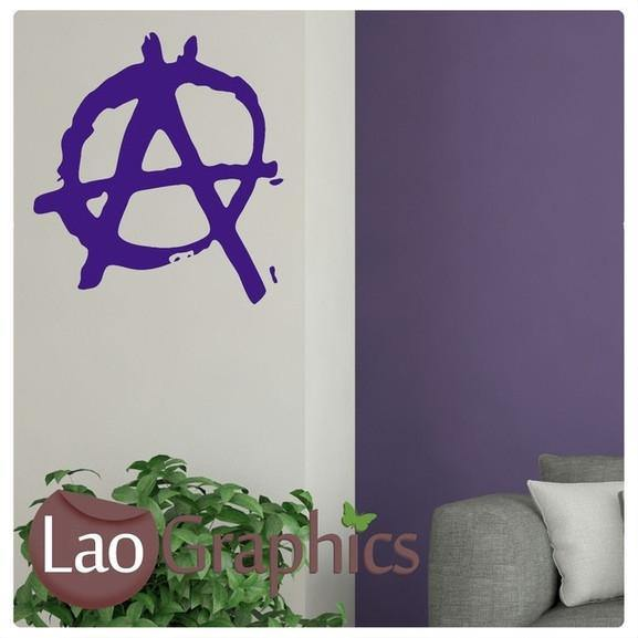Anarchy Symbol Vinyl Transfer Wall Stickers Home Decor Art Decals-LaoGraphics