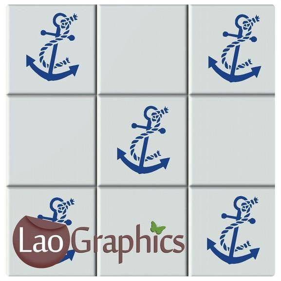 Anchor Kitchen / Bathroom Tile Transfers Home Decor Art Decals UK-LaoGraphics