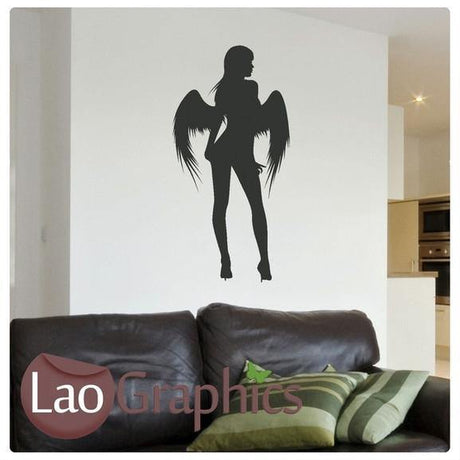 Angel Girls Bedroom Wall Stickers Home Decor Art Decals UK Transfers-LaoGraphics