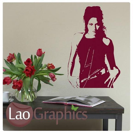 Angelina Jolie Wall Stickers Home Decor Art Decals Large UK Transfers-LaoGraphics