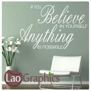 Anything is Possible Inspiring Quote Wall Stickers Home Decor Art Decals-LaoGraphics
