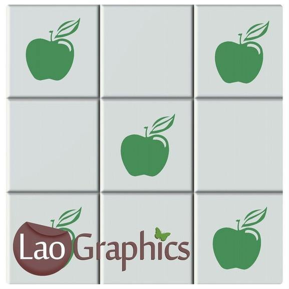 Apple Kitchen / Bathroom Tile Transfers Home Decor Art Decal Transfers-LaoGraphics