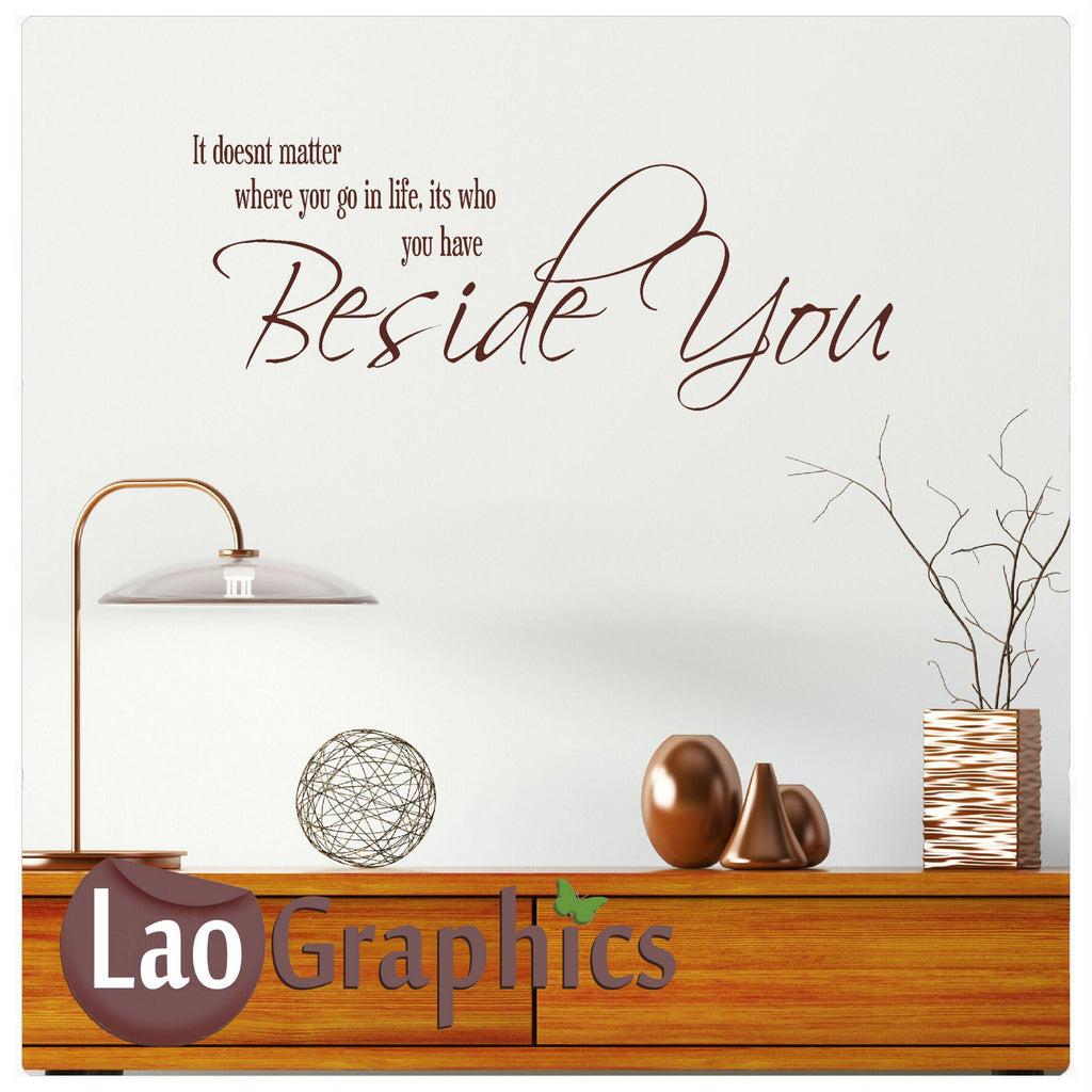 Beside you Home Decor Art Decals