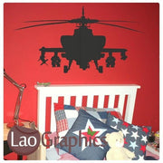 Army Helicopter Military & Army Wall Stickers Home Decor Art Decals-LaoGraphics