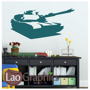 Army Tank Military & Army Wall Stickers Home Decor Art Decals-LaoGraphics